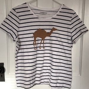 Croft and Barrow Camel Tee